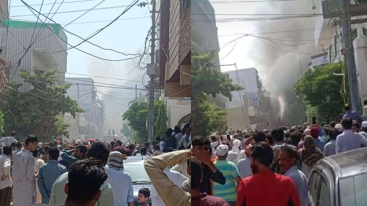 Pakistan Airlines flight with 90 passengers crashes in Karachi