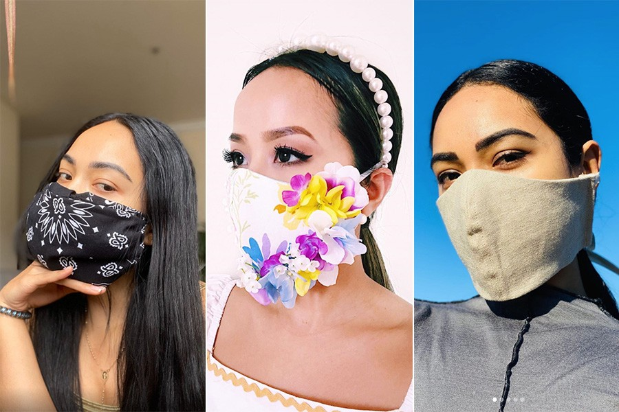 Face masks are becoming fashionable