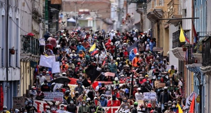 Ecuador protests against cuts amid Coronavirus