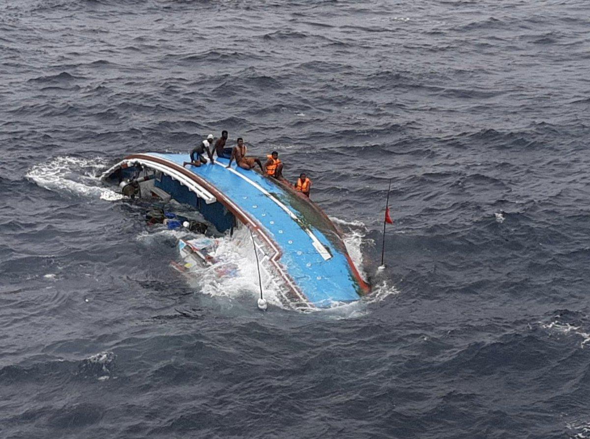 Six Lankan fishermen rescued from rough seas