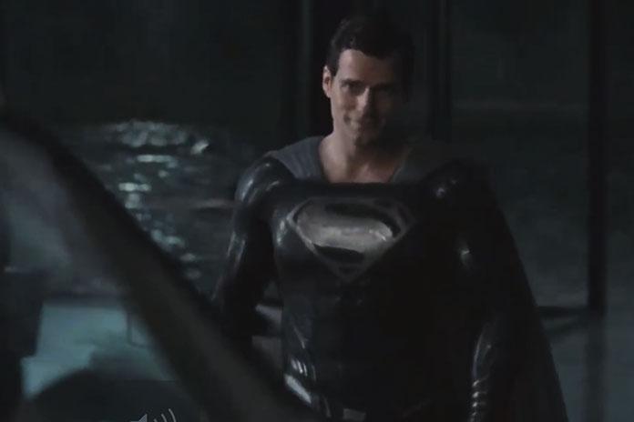 SnyderCut clip shows Superman's black suit