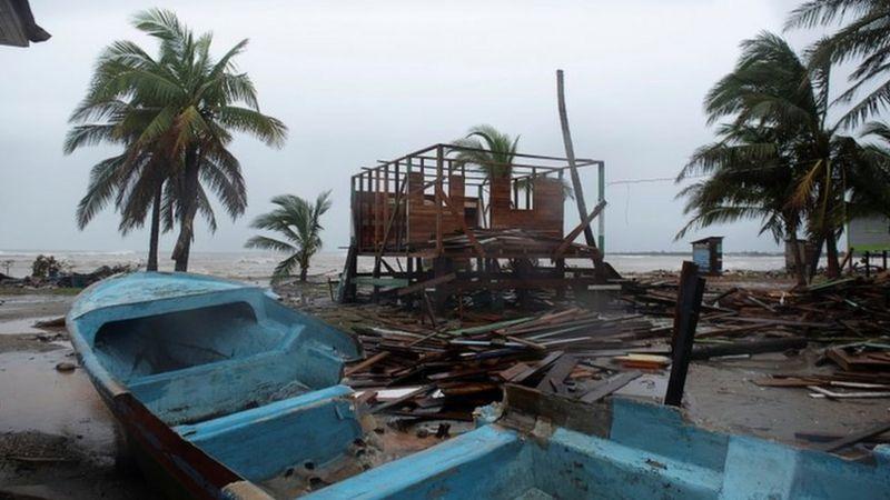 Hurricane Iota hits Nicaragua