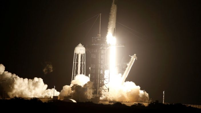 Astronaut crew launch to space station
