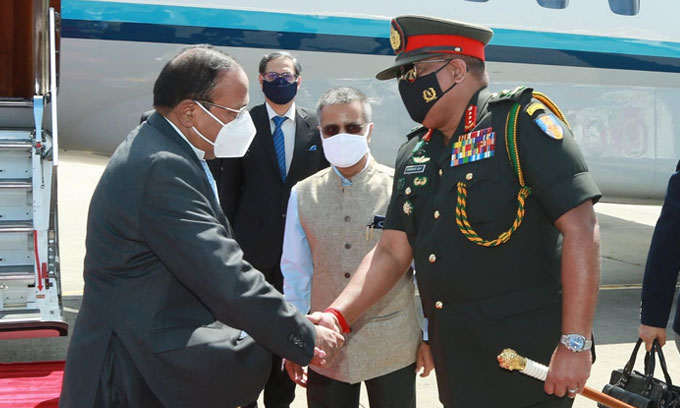 India's National Security Adviser Ajith Doval arrived