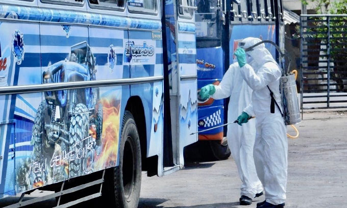 Raids against buses violating health safety guidelines