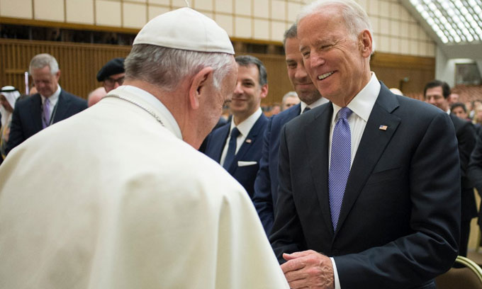 Joe Biden thanked Pope Francis for 'extending blessings and congratulations'