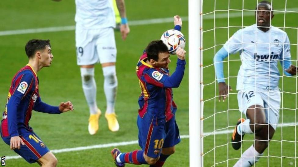 Messi equals Pele record with 643rd club goal