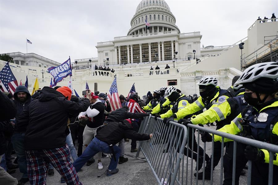 US Capitol locked down as Trump supporters clash with Police