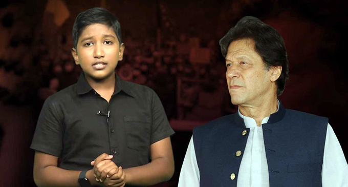 A serious plead from a 13-year-old to Imran Khan [VIDEO]