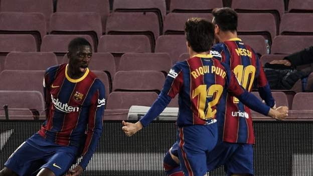 Barcelona go 2nd after late win over Valladolid