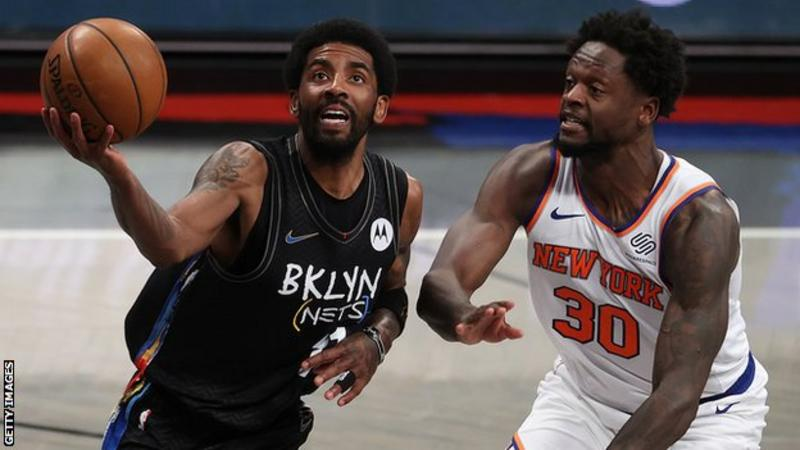 Irving scores 40 points as Nets beat Knicks