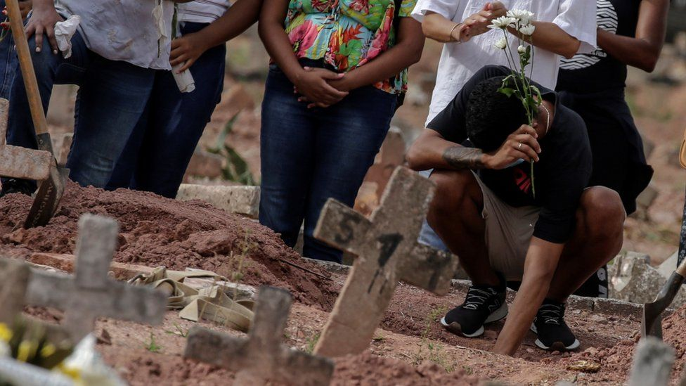 Brazil daily COVID deaths top 4,000 for first time