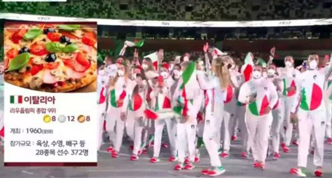 South Korea TV sorry for using pizza to depict Italy