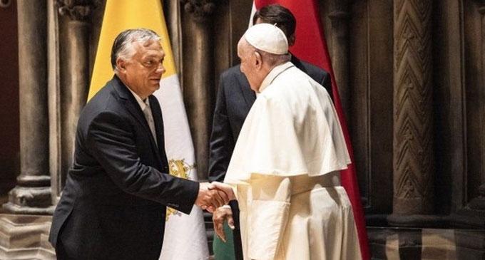 Pope meets Hungary's populist leader Orban